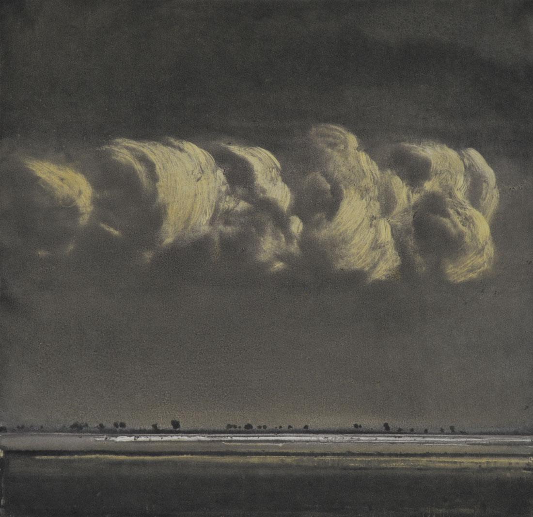 Evening light on clouds III