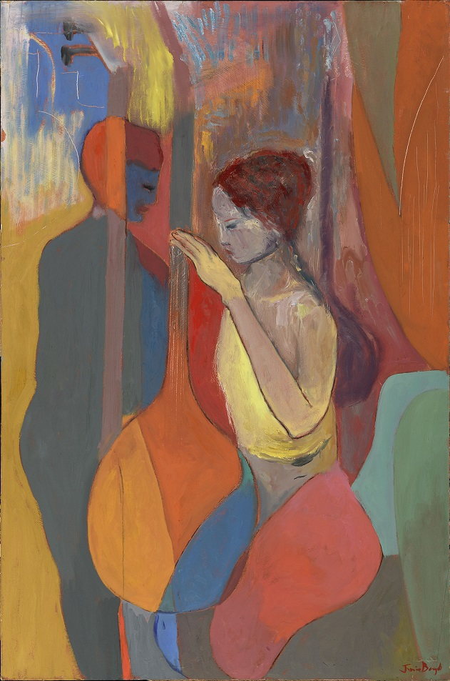 Two figures with sitars