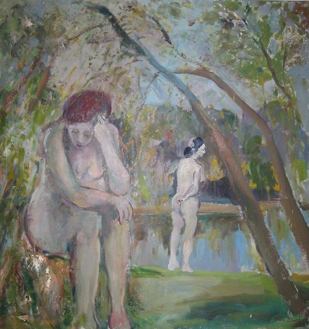 Bathers at the lake