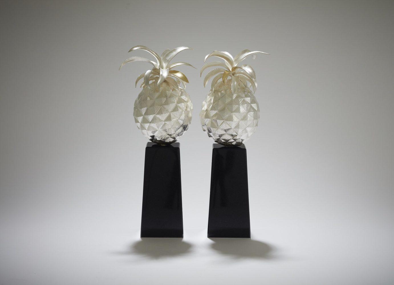 Pineapple pair of object d'art
