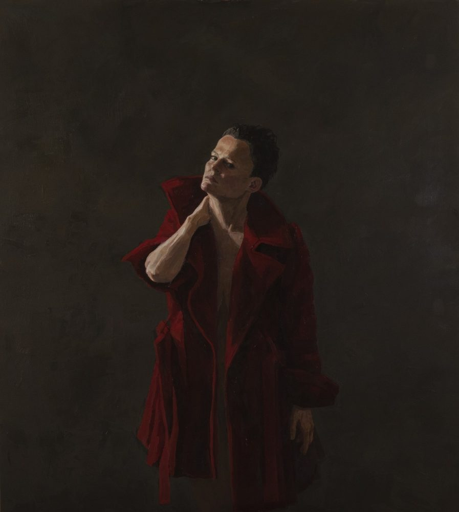 Figure with red coat