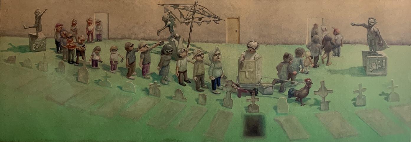 Cemetery scene for public shaming