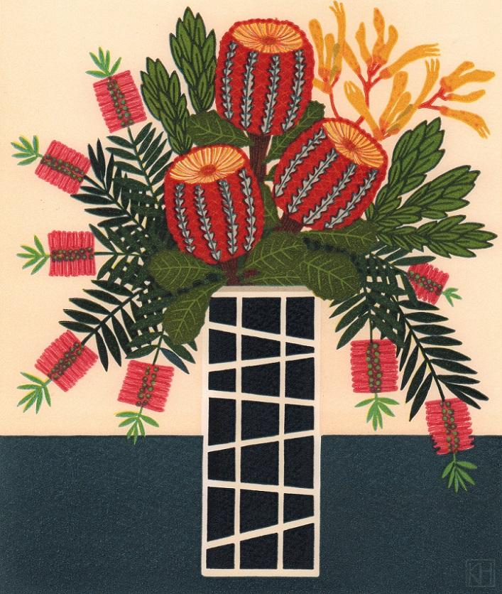 Scarlet banksia & bottlebrush