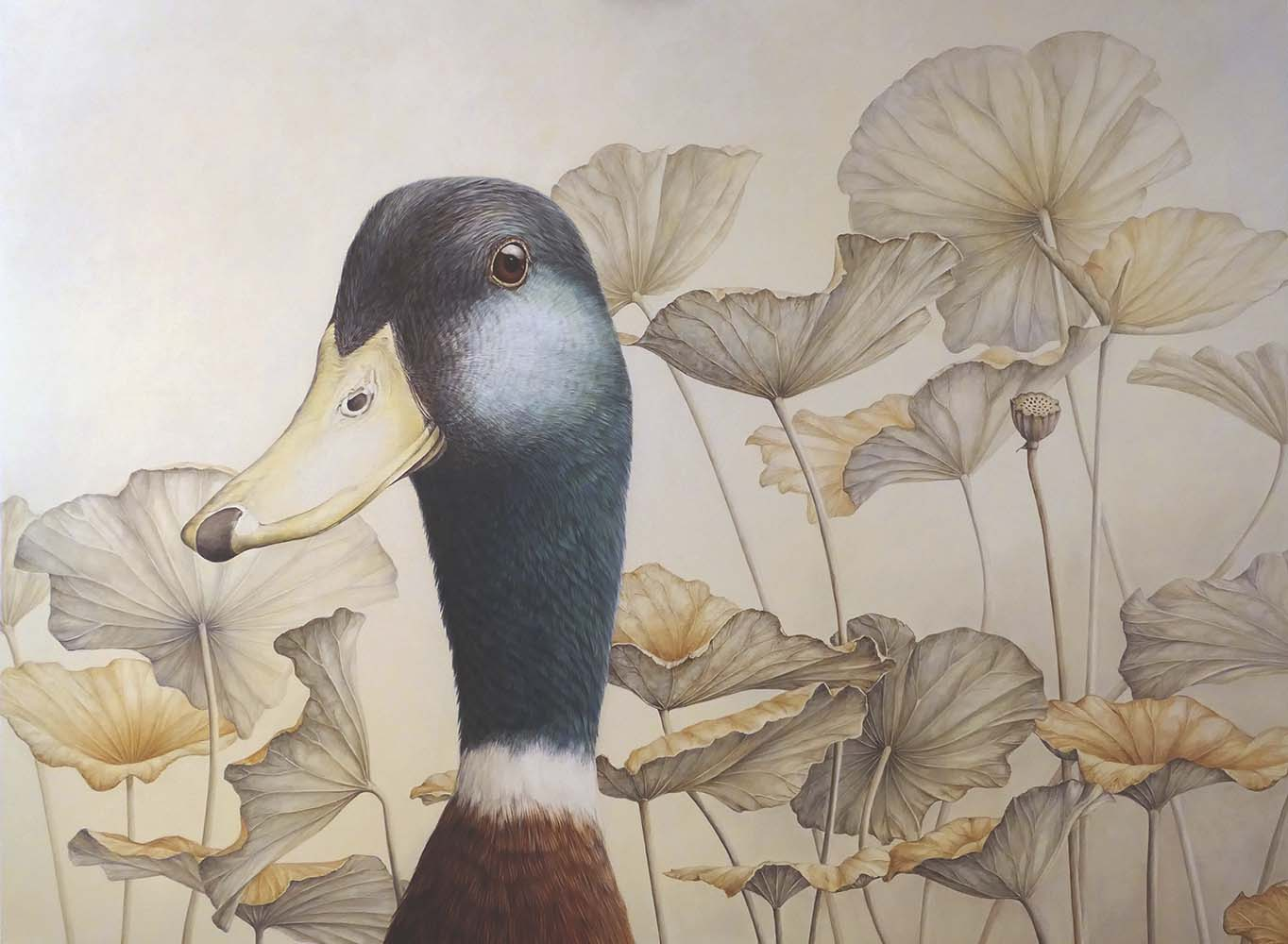 Mallard with Lotus