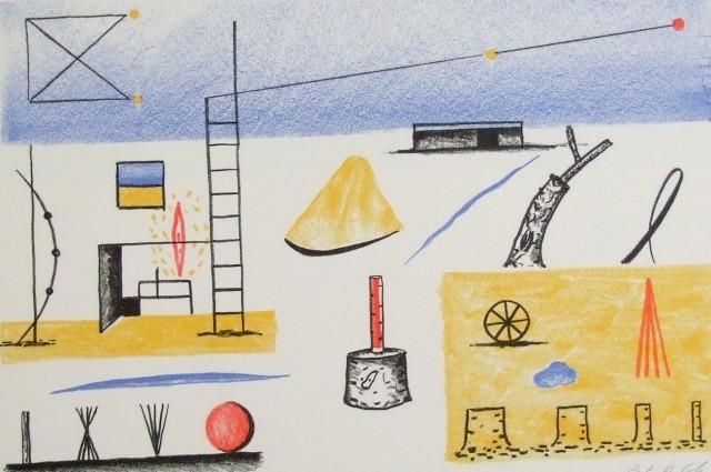 Landscape with studio