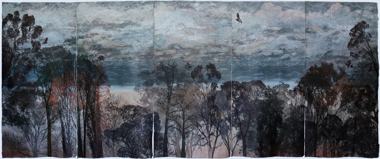 Rosalind Atkins, G.W. Bot, Dianne Fogwell, Martin King and Geoffrey Ricardo – 2021 Geelong Acquisitive Print Awards