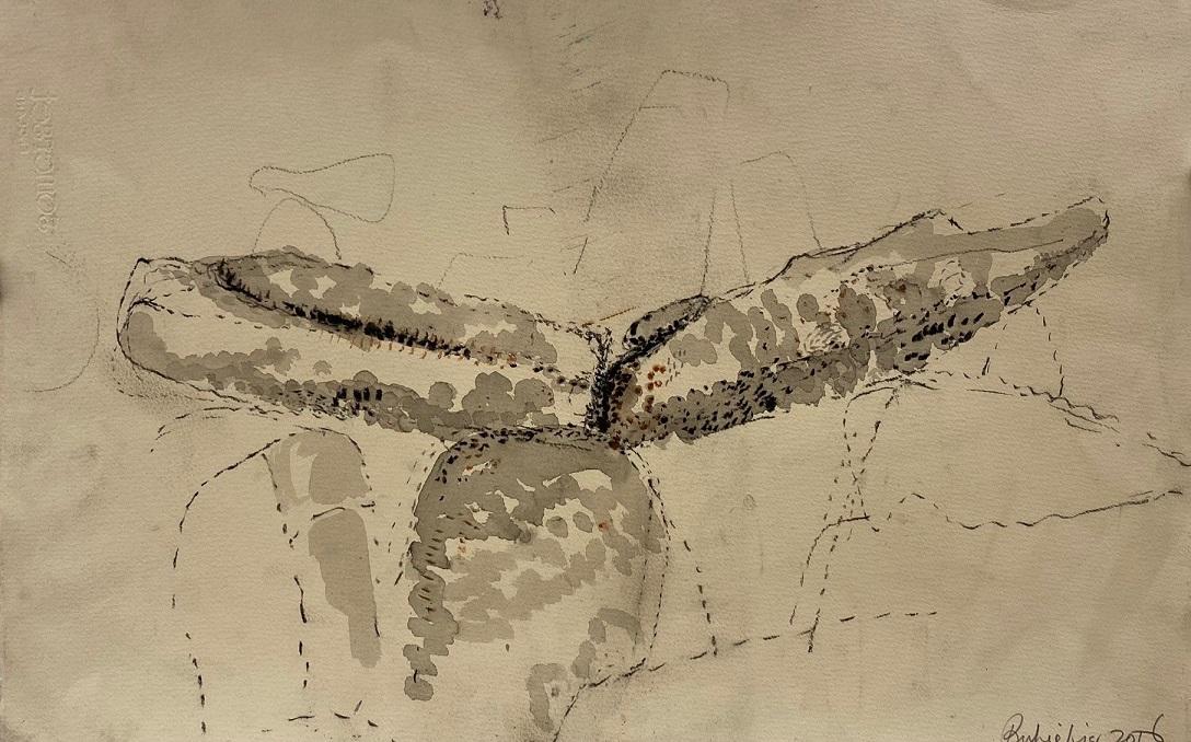 Flying like a crane (study)